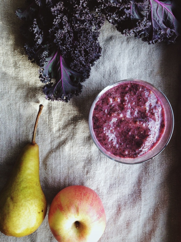 Purple kale smoothie